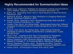 highly recommended for summarization ideas1
