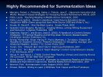 highly recommended for summarization ideas2