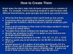 how to create them