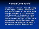 human continuum1