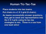 human tic tac toe