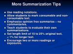 more summarization tips