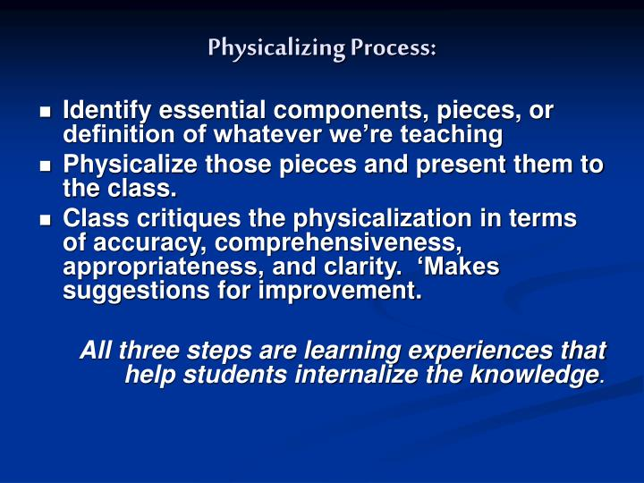 Physicalizing Process: