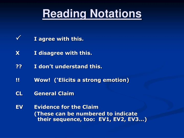 Reading Notations