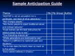 sample anticipation guide