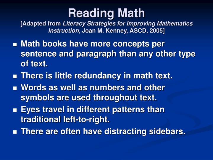 Reading Math