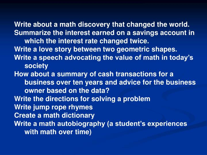 Write about a math discovery that changed the world.