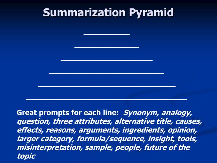 Summarization Pyramid