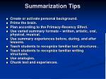 summarization tips
