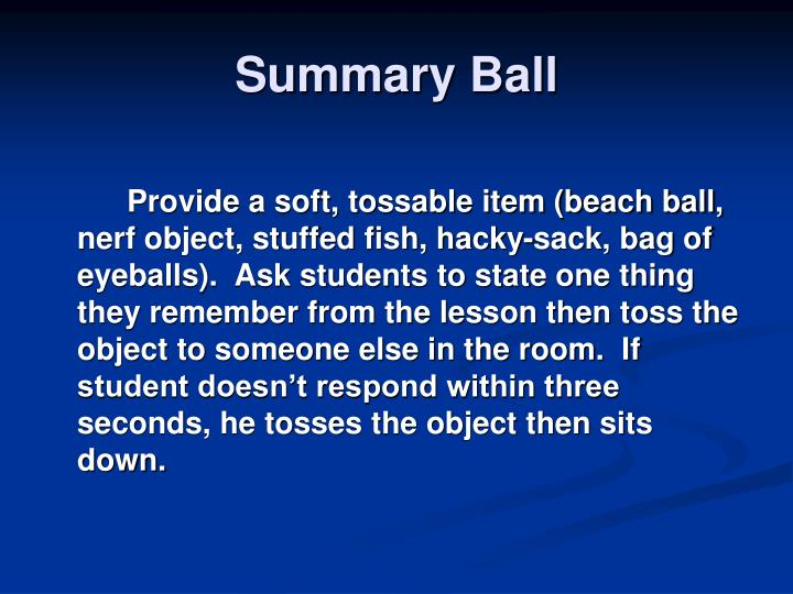 Summary Ball