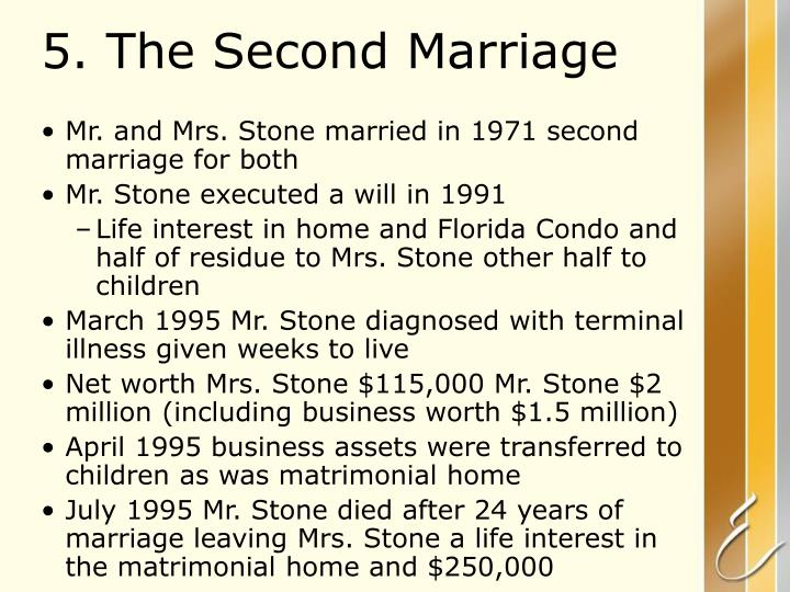 5. The Second Marriage