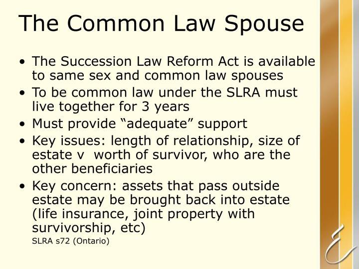 The Common Law Spouse