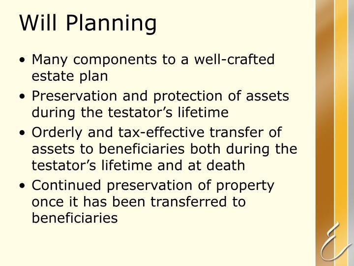 Will Planning