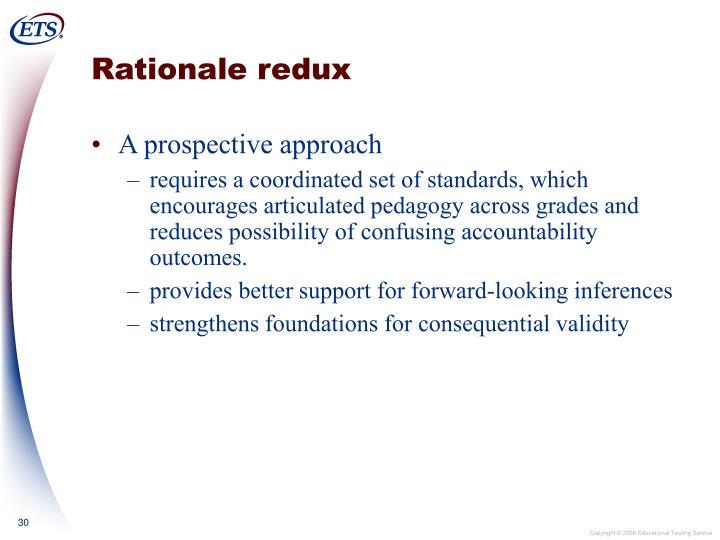 Rationale redux