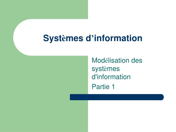 Syst mes d information