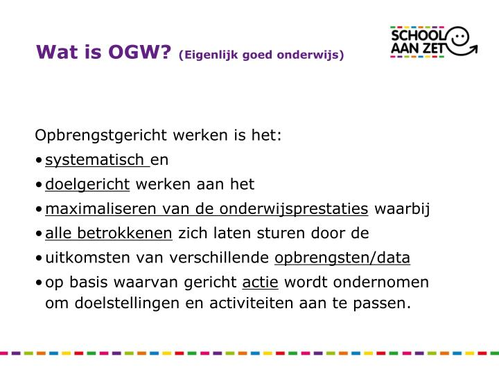 Wat is OGW?