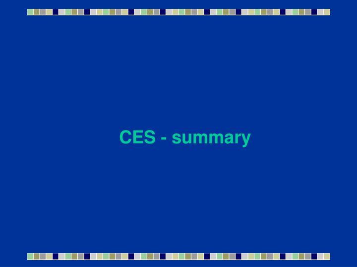 CES - summary