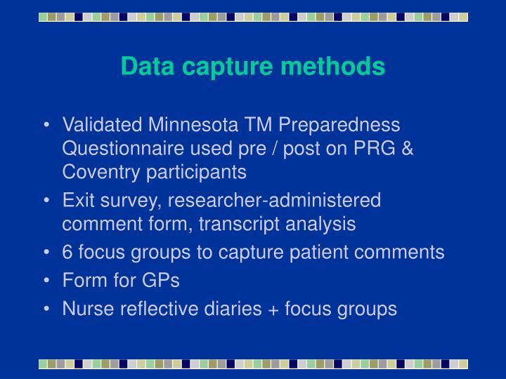 Data capture methods