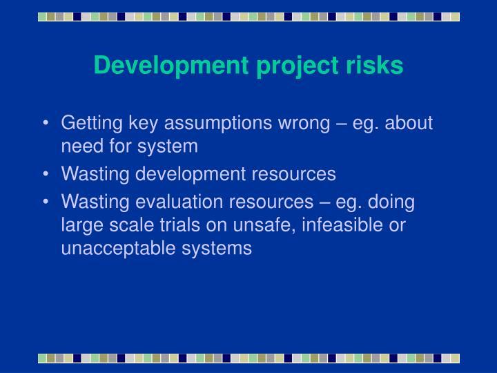 Development project risks
