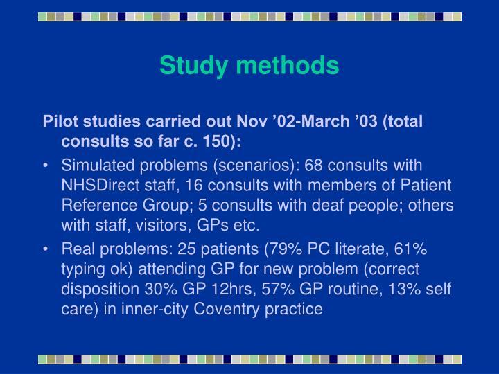 Study methods
