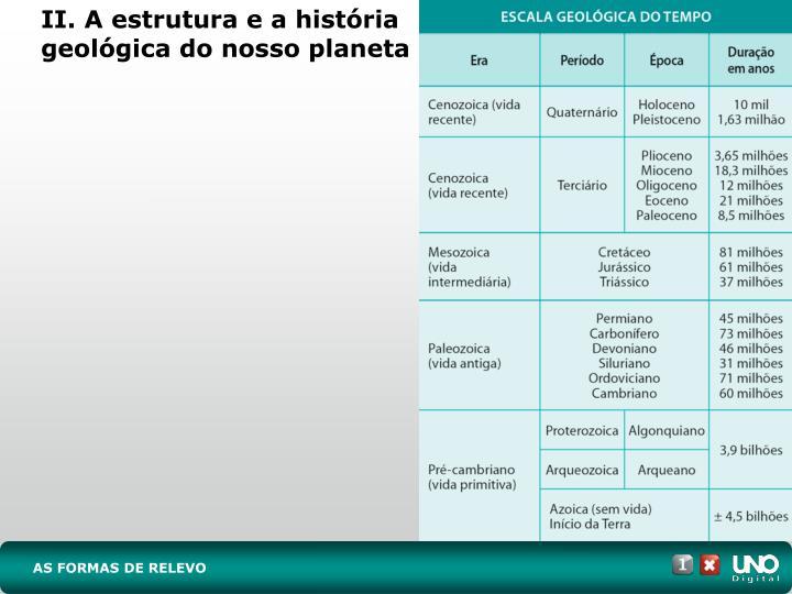 II. A estrutura e a história geológica do nosso planeta
