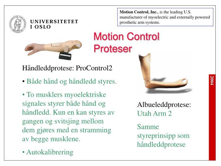 Motion Control, Inc.