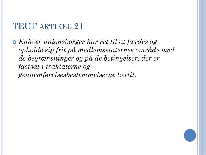 TEUF artikel 21
