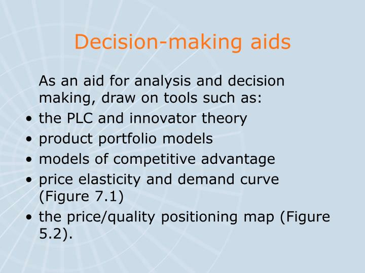 Decision-making aids