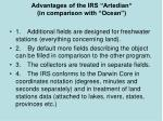 advantages of the irs artedian in comparison with ocean