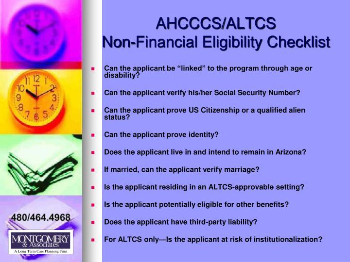 AHCCCS/ALTCS