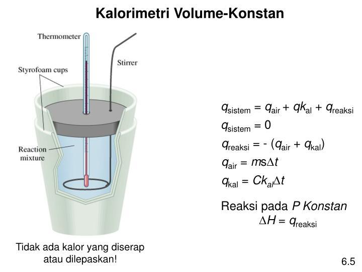 Kalorimetri Volume-Konstan