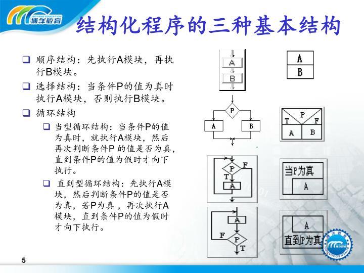 结构化程序的三种基本结构