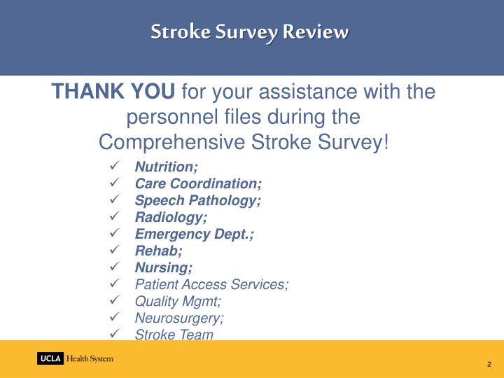Stroke Survey Review