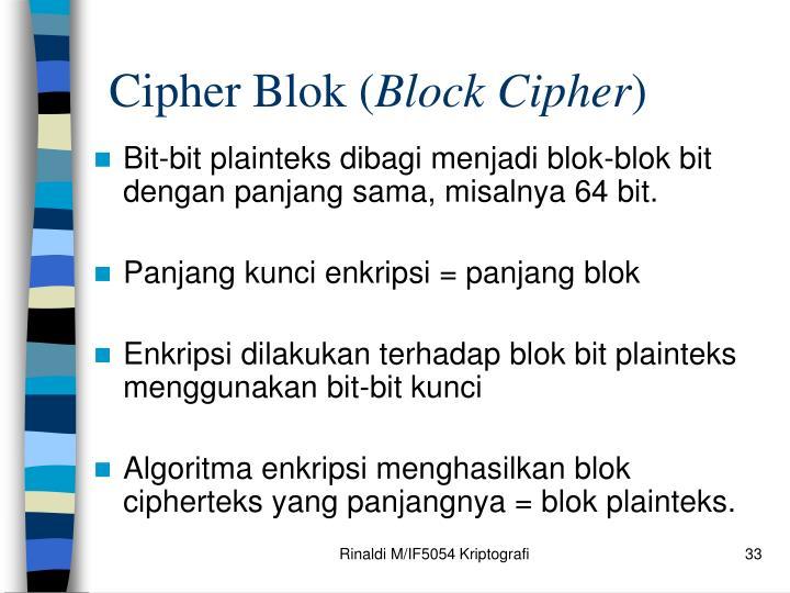 Cipher Blok (