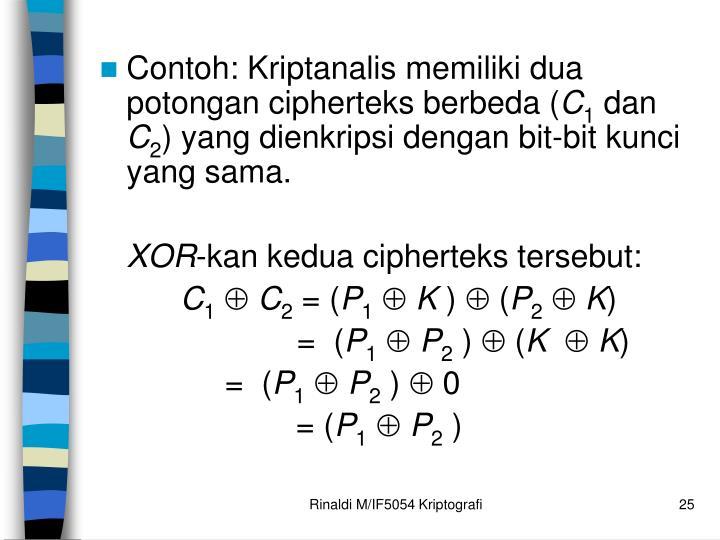 Contoh: K