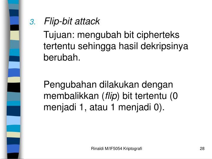 Flip-bit attack
