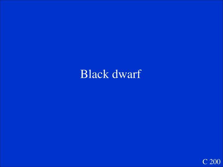 Black dwarf
