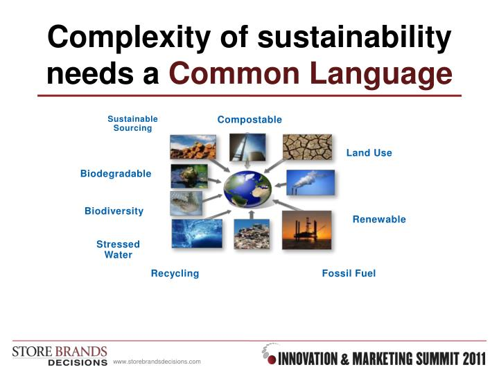 Complexity of sustainability needs a