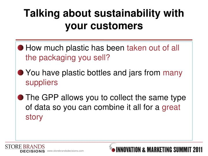 Talking about sustainability with your customers