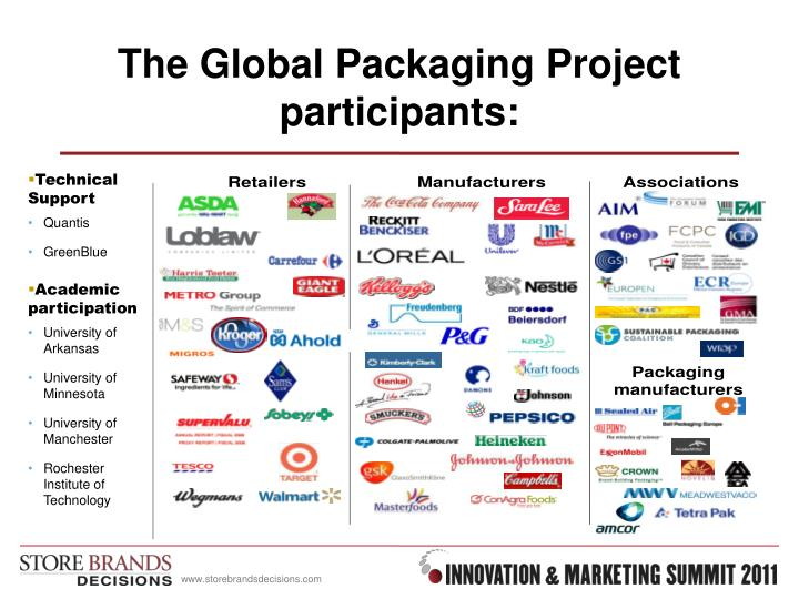 The Global Packaging Project  participants: