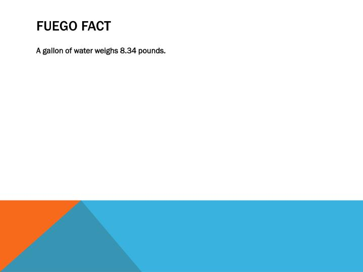FUEGO FACT