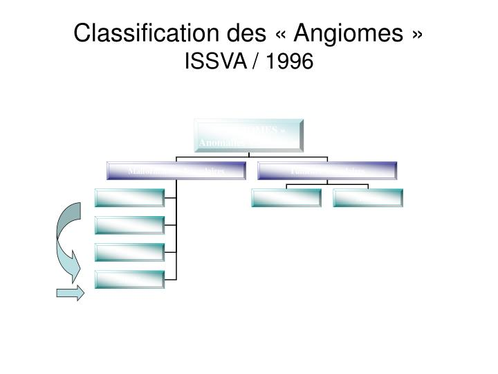 Classification des « Angiomes »