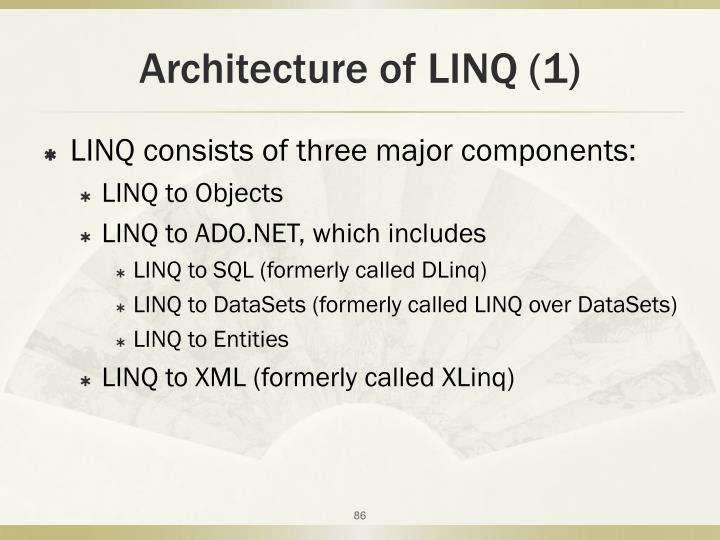 Architecture of LINQ (1)