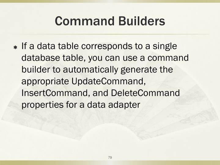 Command Builders