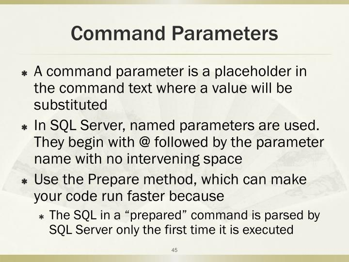 Command Parameters
