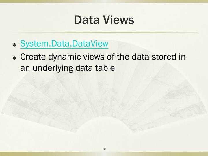 Data Views