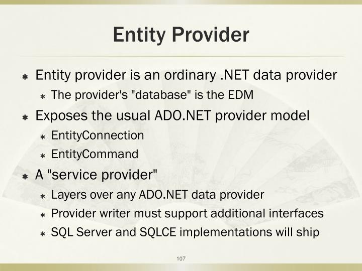 Entity Provider