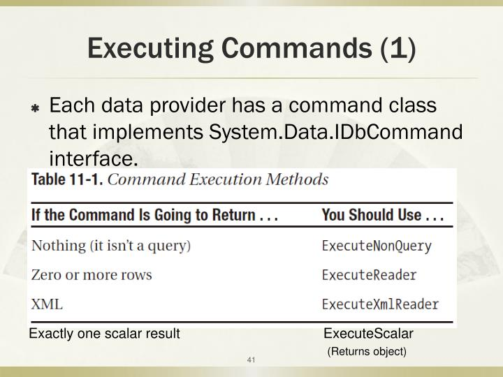 Executing Commands (1)