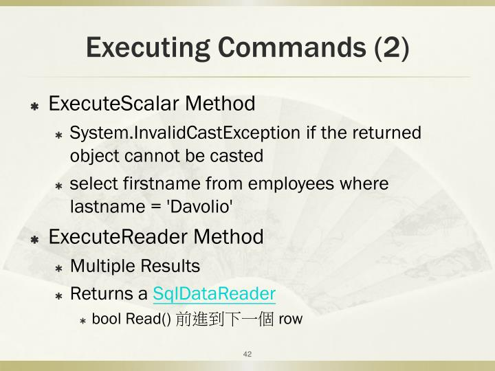 Executing Commands (2)