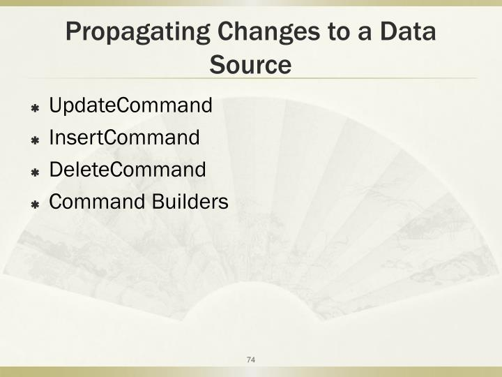 Propagating Changes to a Data Source
